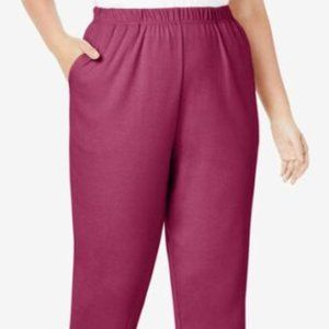 2 Pair Roaman's 7-DAY KNIT PANTs 26W/28W 2X NWT